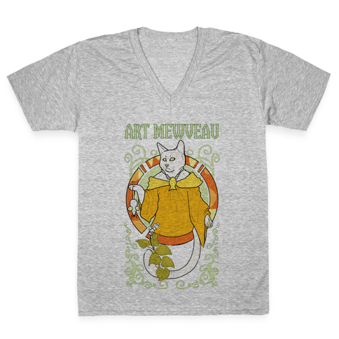 Art Mewveau V-Neck Tee Shirt