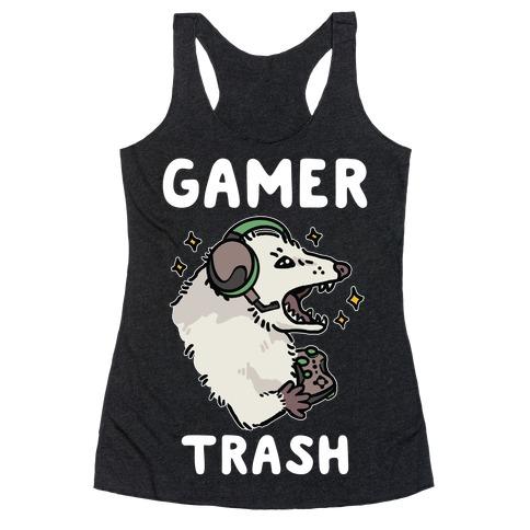Gamer Trash Opossum Racerback Tank Top