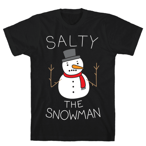 Salty The Snowman  Mens T-Shirt