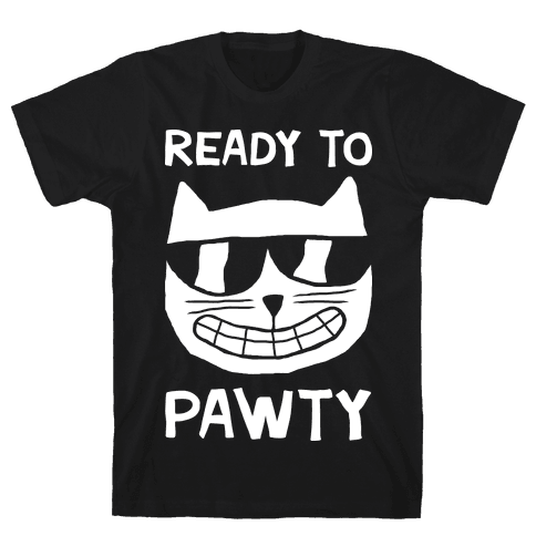 Ready To Pawty Mens T-Shirt