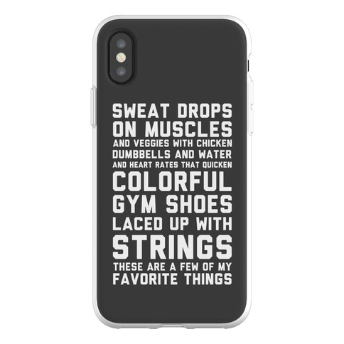 Sweat Drops On Muscles and Veggies With Chicken Phone Flexi-Case