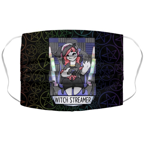 Witch Streamer Accordion Face Mask