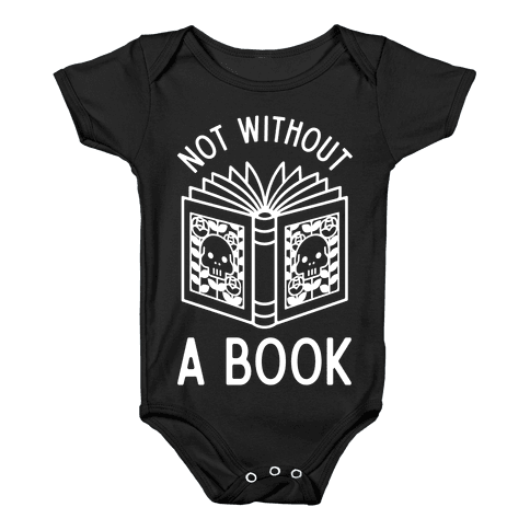 Not Without a Book Baby Onesy