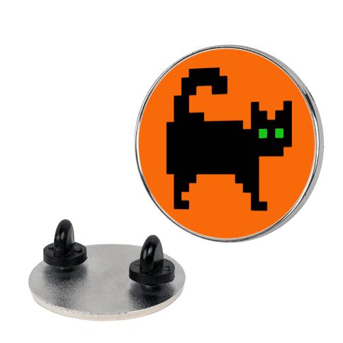 Pixel Halloween Cat Pin