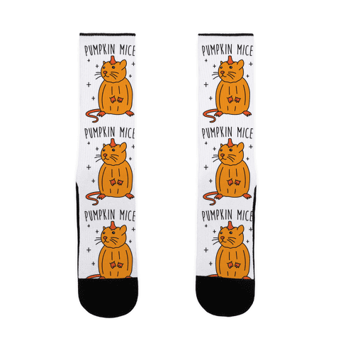Pumpkin Mice Sock