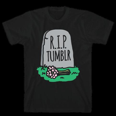 R.I.P. Tumblr White Print Mens T-Shirt