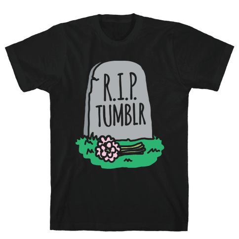 R.I.P. Tumblr White Print Mens T-Shirt