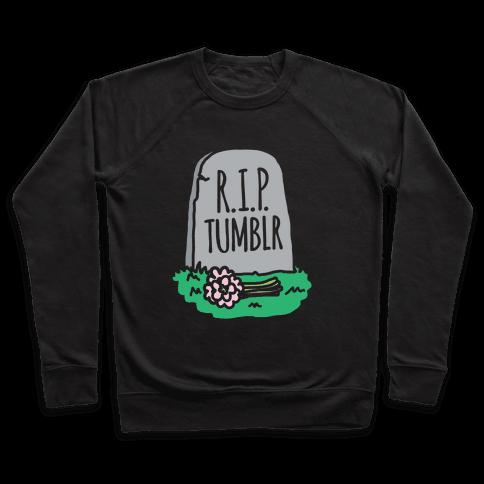 R.I.P. Tumblr White Print Pullover