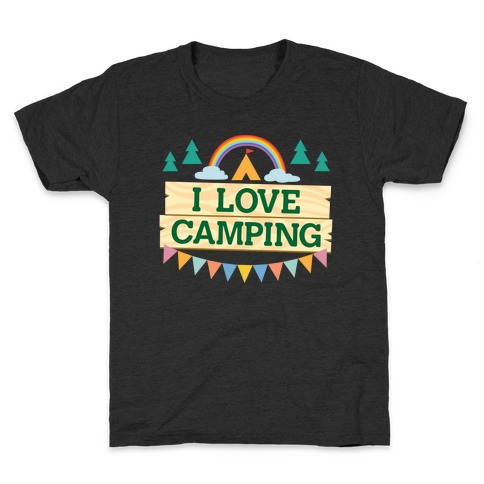 I Love Camping (Pocket Camp Parody) Kids T-Shirt