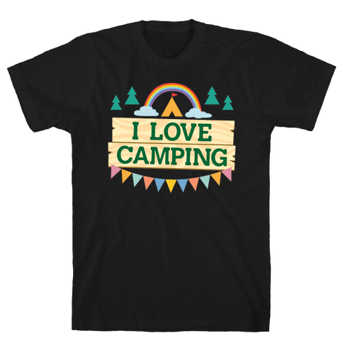I Love Camping (Pocket Camp Parody) Mens T-Shirt