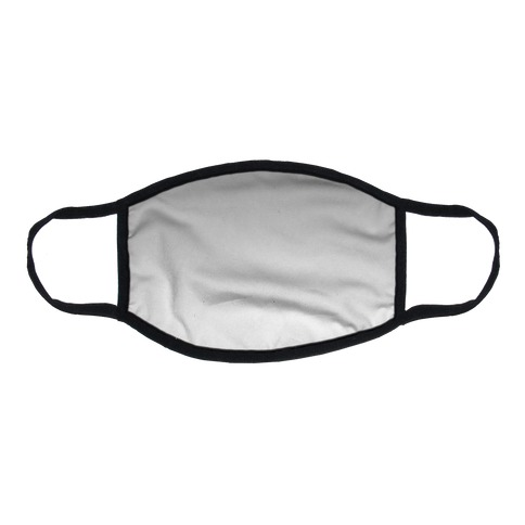 Grayscale Light Flat Face Mask
