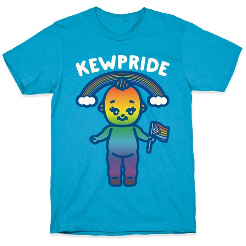 Kewpride White Print T-Shirt