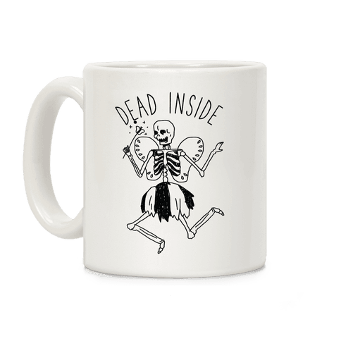 Dead Inside Skeleton Fairy Coffee Mug