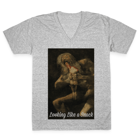 Looking Like a Snack Saturn V-Neck Tee Shirt