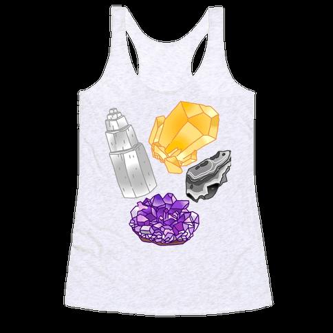 Enby Crystals Racerback Tank Top
