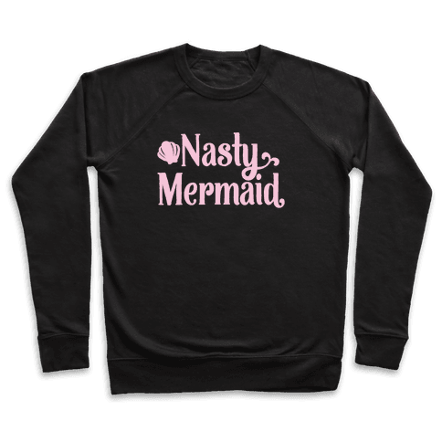 Nasty Woman Mermaid Parody White Print Pullover