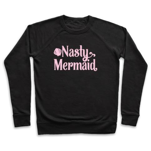 Nasty Woman Mermaid Parody White Print Pullover