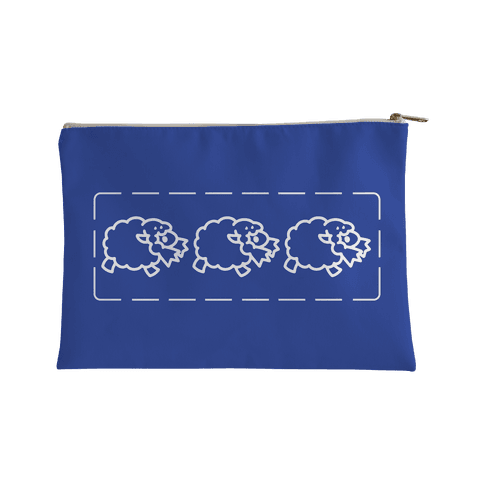 Wooloo Blue Pattern Accessory Bag
