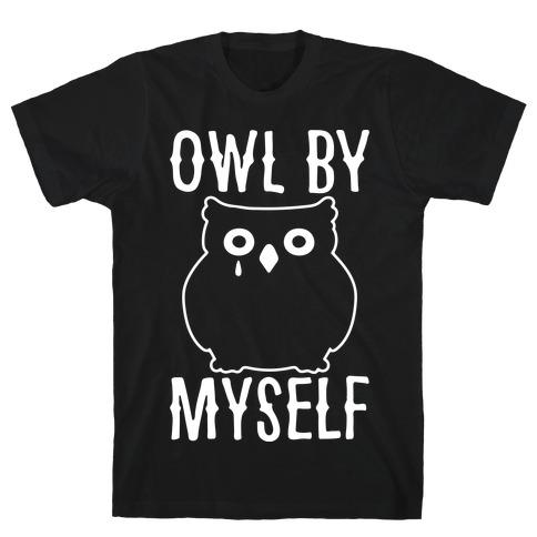 Owl By Myself White Print T-Shirt