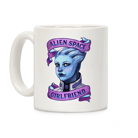 Alien Space Girlfriend Liara Coffee Mug