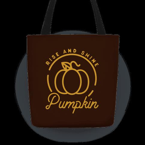 Rise and Shine Pumpkin Tote