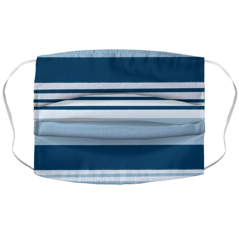 Navy Blue Horizontal Stripes Face Mask Cover