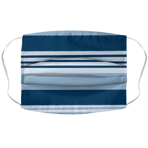 Navy Blue Horizontal Stripes Face Mask