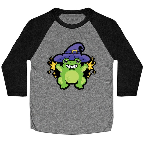 Magical Frog Witch Baseball Tee