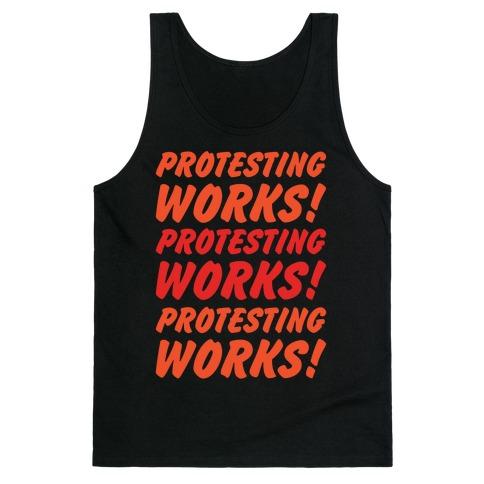 Protesting Works White Print Tank Top