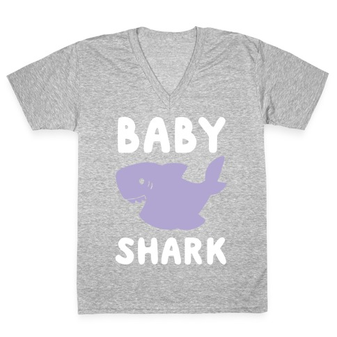 Baby Shark (1 of 5 set) V-Neck Tee Shirt