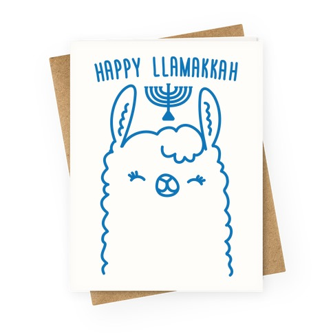 Happy Llamakkah Greeting Card