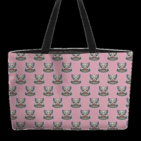 Inosuke Mad Boar Pattern Pink Weekender Tote