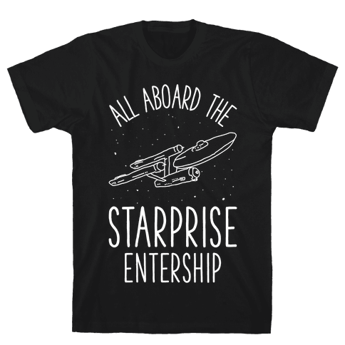 All Aboard The Starprise Entership Mens T-Shirt