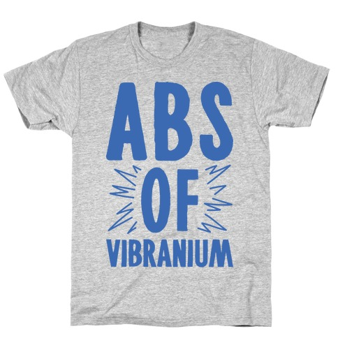 Abs Of Vibranium Parody T-Shirt