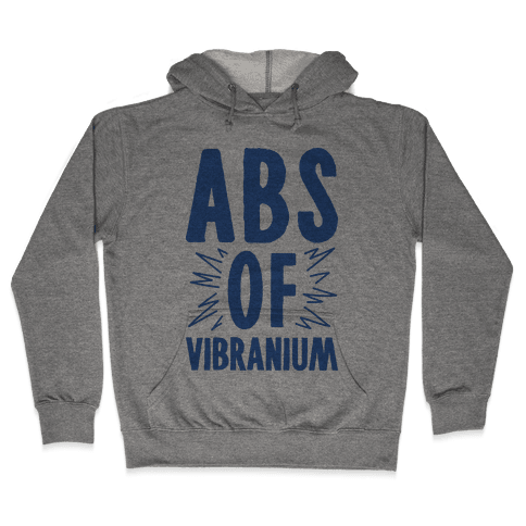 Abs Of Vibranium Parody Hooded Sweatshirt