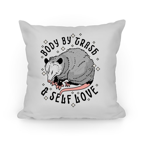 Body By Trash And Self Love Possum Pillow