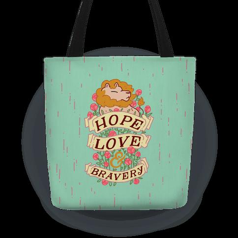Hope Love & Bravery Tote