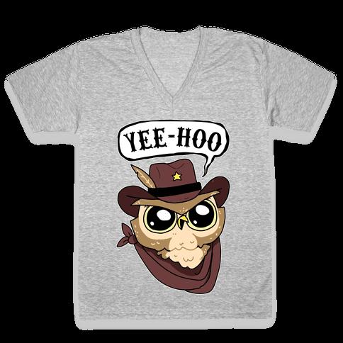 Yee-hoo V-Neck Tee Shirt