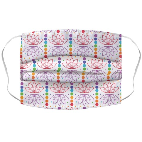 Chakra And Lotus Leaf Pattern Accordion Face Mask