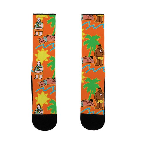 Beach Dad Pattern Sock