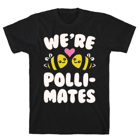 We're Pollimates White Print T-Shirt