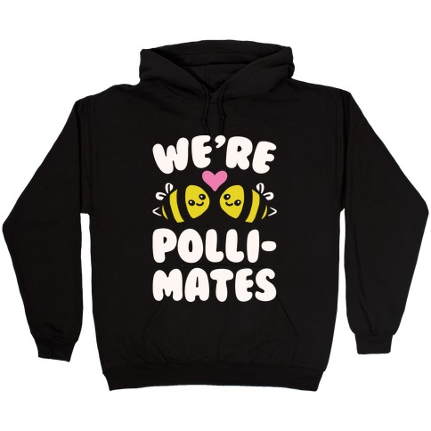 We're Pollimates White Print Hooded Sweatshirt