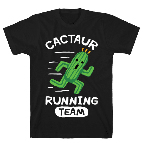 Cactaur Running Team Mens T-Shirt