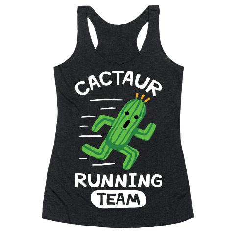 Cactaur Running Team Racerback Tank Top