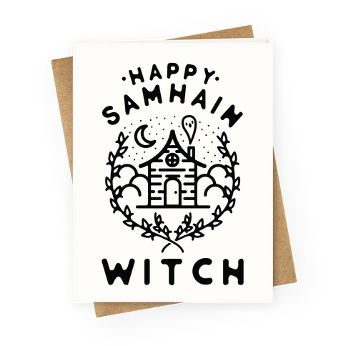 Happy Samhain Witch Greeting Card