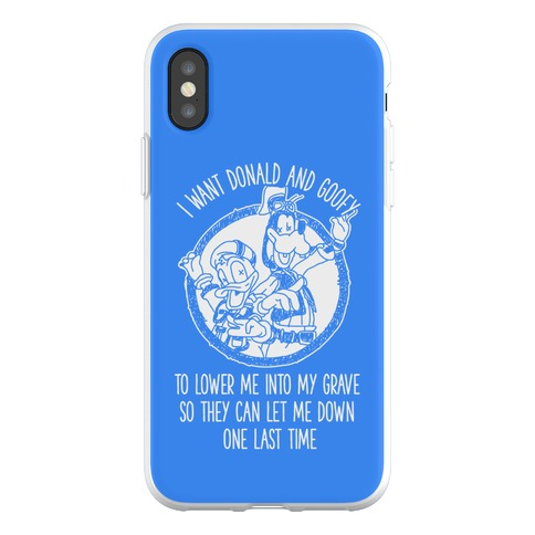 Donald and Goofy Let Me Down Phone Flexi-Case