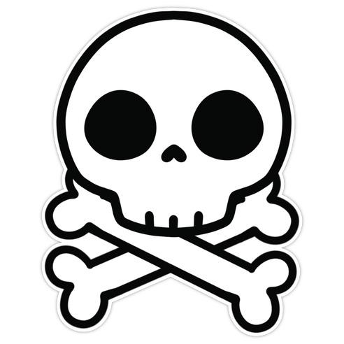 Kawaii Skull Die Cut Sticker