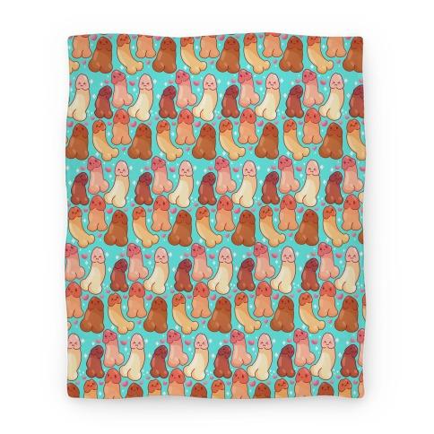 Kawaii Penises Pattern Blanket