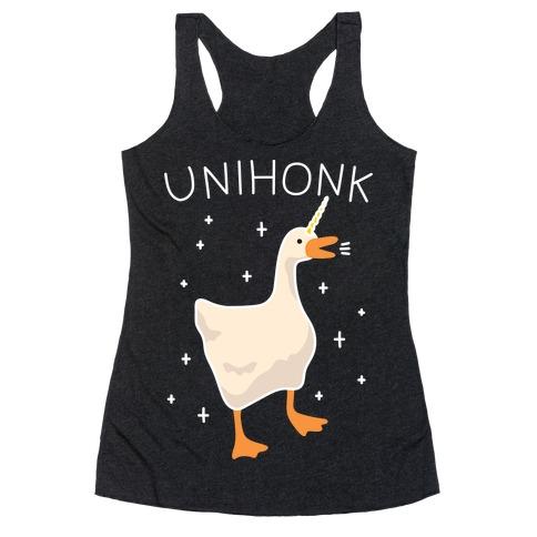 Unihonk Goose Unicorn Racerback Tank Top