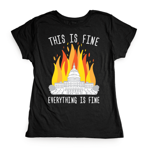 This Is Fine Everything Is Fine U.S. Capitol Womens T-Shirt
